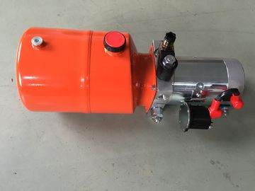 Orange 6L Steel Tank DC Compact Hydraulic Power Unit for Dump Trailer