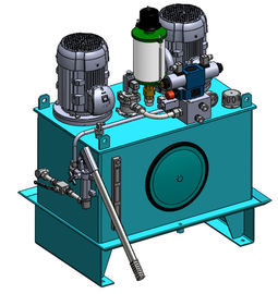 High Pressure AC380V 4KW Industry Hydraulic Power Units with 2 Motors