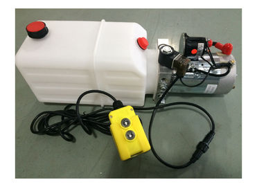 Dump Trailer Hydraulic Power Pack Plastic Tank , DC 12V 2000W